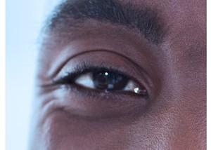 eye of the African american man
